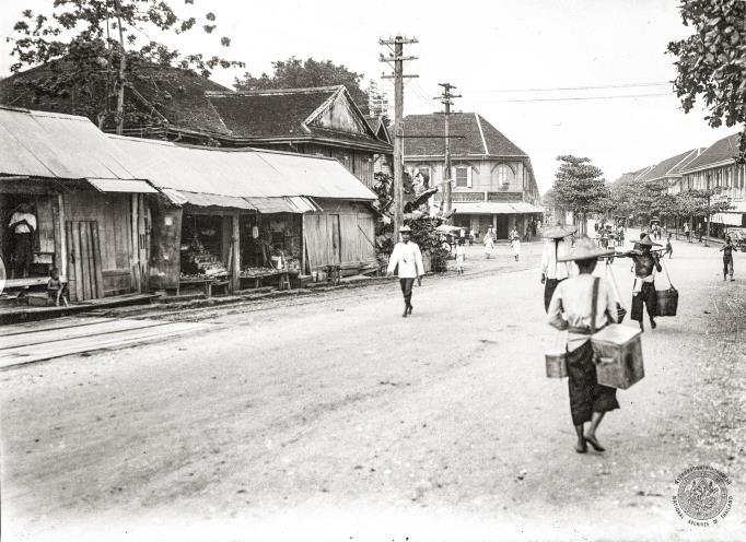 ถนนเจริญกรุงตัดกับถนนมหาไชย