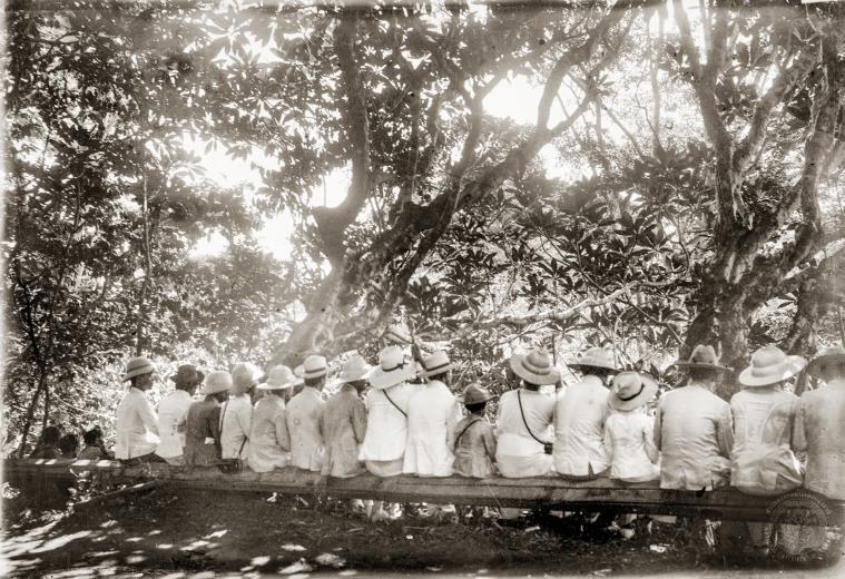 Some of the royals accompanying King Chulalongkorn