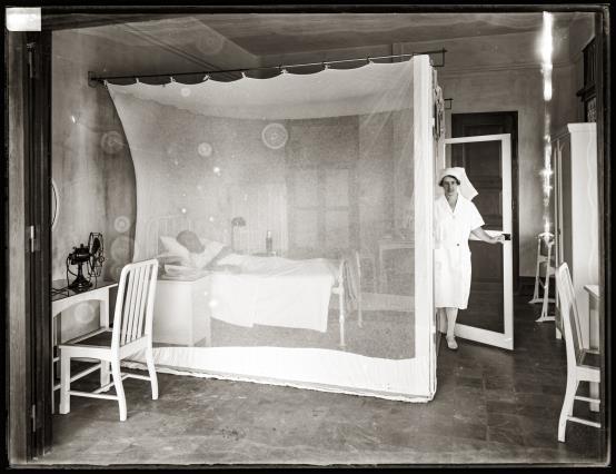 A patient room at the Bangkok Nursing Home.