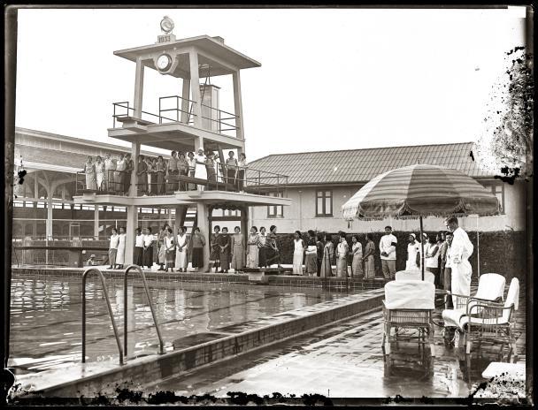 The new swimming pool at the Royal Bangkok Sports Club